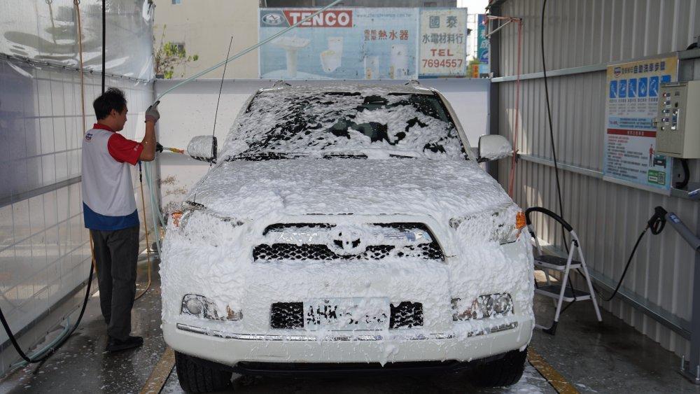 高泡沫洗車